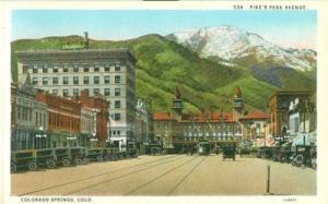 Pike's Peak Avenue Colorado Springs, Colorado early 1900s...