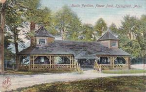 Massachusetts Springfield Rustic Pavilion Forest Park 1906