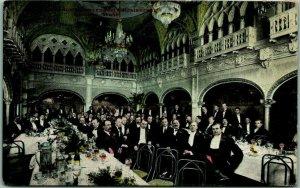 Spokane, Washington Postcard Banquet Room, Davenport's Restaurant c1910s