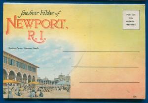 Newport Rhode Island ri postcard folder #3