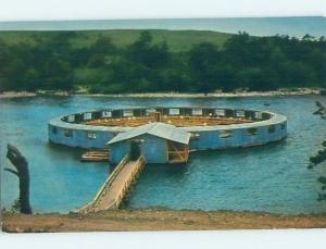 Unused Pre-1980 FLOATING FISHERENA Catfish Bay - Kingston Oklahoma OK hn1177