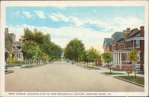 West Avenue Residentian Section Newport News Virginia