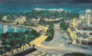 Night View, Calzada Costera, Acapulco, Guerrero, Mexico, PU-1973