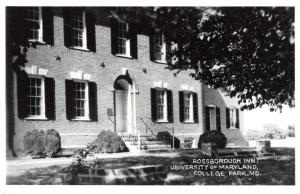 College Park Maryland University Rossborough Inn Real Photo Postcard J60098