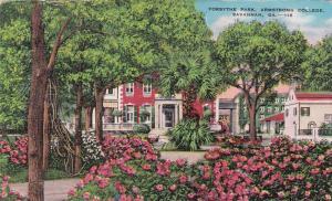 SAVANNAH, Georgia, PU-1945; Forsythe Park, Armstrong College