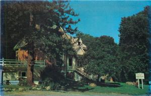Doon Ontario~Doon School of Fine Arts~House in Trees~1950s Car~Postcard