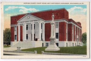 Court House & Confederate Monument, Madisonville KY