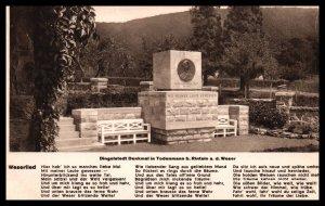 Dingelstedt Denkmal in Todenmann,Weserlied,Germany BIN