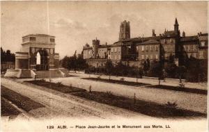 CPA ALBI - Place Jean-Jaures et le Mon. (477524)