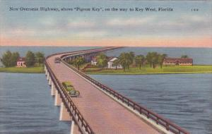 Florida Key West New Overseas Highway Above Pigeon Key On The Way To Key West