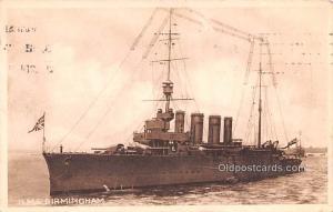 Military Battleship Postcard, Old Vintage Antique Military Ship Post Card H.M...