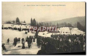 Old Postcard of Sports & # 39hiver Vosges Ski Races bobsleigh