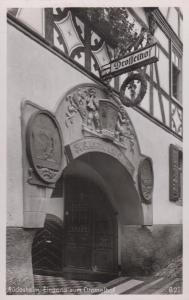 Rudesheim Eingang Zum Drusselhof Entrance Real Photo German Postcard