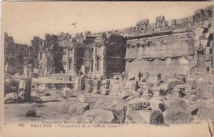 Lebanon Baalbek Vue generale de la Grande Cour 1927