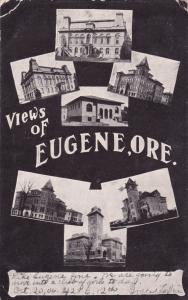 EUGENE, Oregon, PU-1906; 6-VIews of Buildings