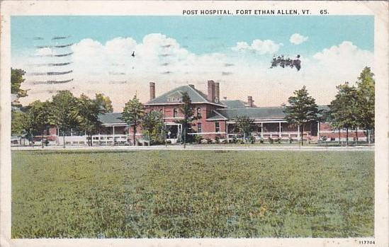 Post Hospital Fort Ethan Allen Vermont 1928 Curteich