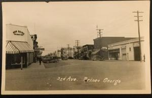Vintage Picture Postcard Unused 3rd Ave Prince George BC Canada c1920's? LB