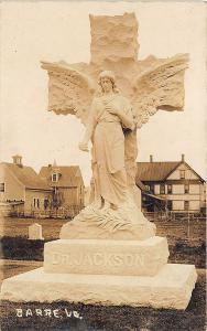 Barre VT Dr Jackson Statue RPPC Postcard