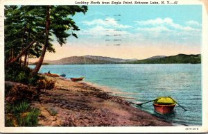New York Adirondacks Schroon Lake Looking North From Eagle Point 1943 Curteich