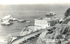 USA Cliff House and Seal Rocks San Francisco RPPC 04.97