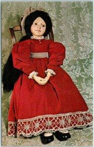 1977 UFDC Convention Postcard United Federation of Doll Clubs Sad Marie Unused