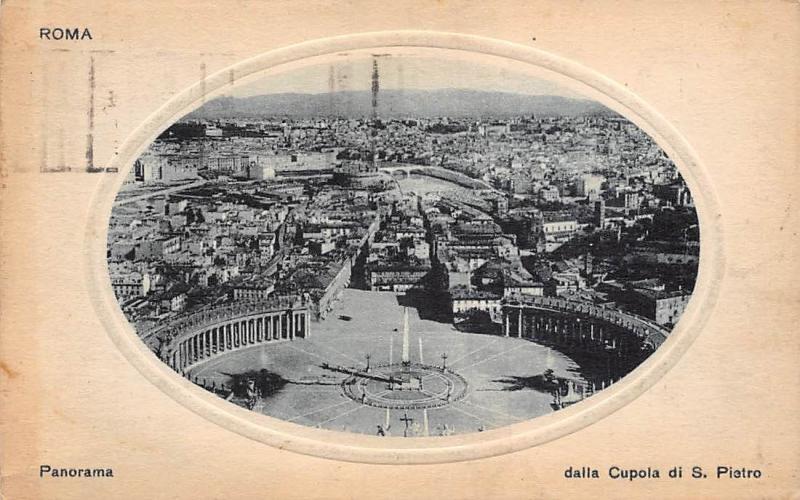 Italy Roma Panorama dalla Cupola di S. Piatro General view