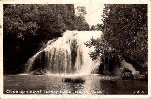 Oklahoma Davis Turner Falls Close Up View Real Photo