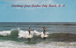 GARDEN CITY BEACH , South Carolina, 1950-60s ; Surfing Version-2