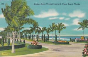 Florida Miami Beach Golden Beach Ocean Boulevard 1949