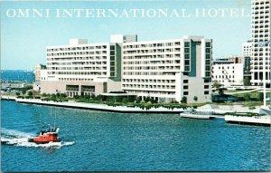 Postcard VA Virginia Norfolk Omni International Hotel Tug Boat Waterfront