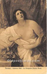 Galleria Pitti, La Cleopatra Nude Postcard Firenze Unused