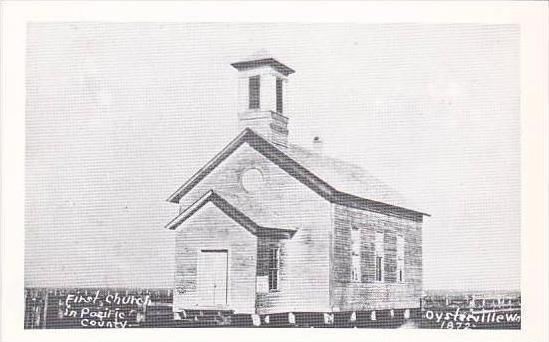 Washington Oysterville Pacific County First Church Real Photo RPPC