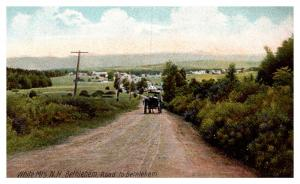 New Hampshire Bethlehem , Aerial View of Road into town