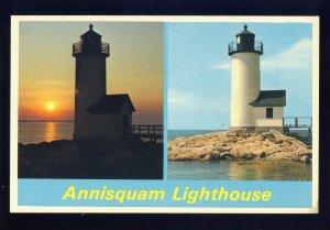 Gloucester, Massachusetts/MA Postcard, Annisquam Lighthouse/Light, Ipswich Bay