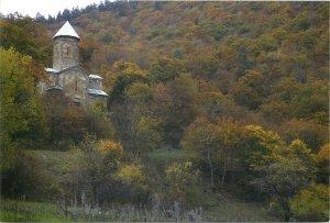 Georgia Qartli church abaye cathedral view mountain