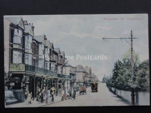 Lincolnshire CLEETHORPES Alexandra Road showing TRAMS Old Postcard by M.S.& Co.