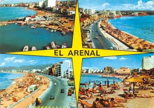 Spain El Arenal Mallorca Harbour Boats Bateaux Road Cars voitures Playa Beach