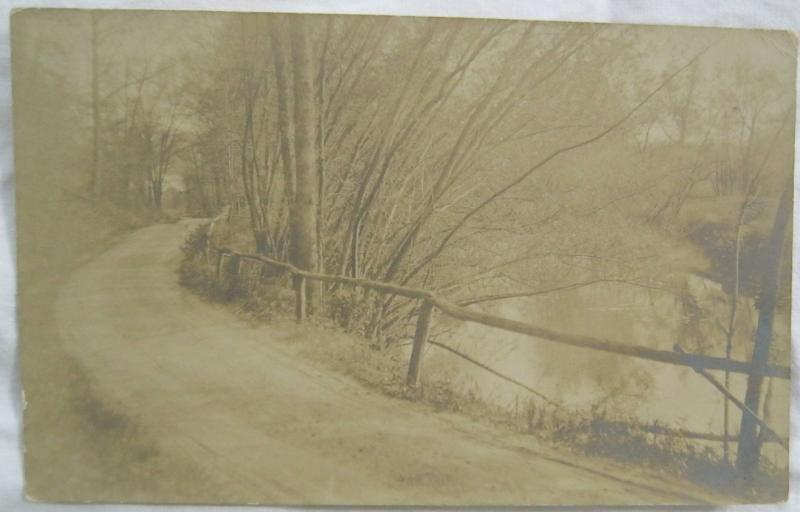 Unidentified Road Real Photo Postcard