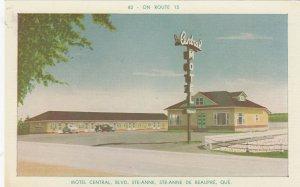STE-ANNE DE BEAUPRE , Quebec, Canada, 50-60s ; Motel Central