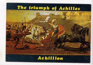 The triumph of Achilles, Achillion, Greece, unused Postcard