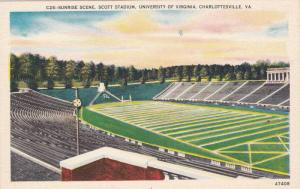 Sunrise scene, Scott Stadium, University of Virginia, Charlottesville, Virgin...