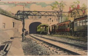 PROVIDENCE - BENEFIT STREET ENTRANCE for NEW RAILROAD TUNNEL / 1910s / equipment