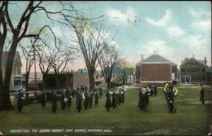 Winthrop MA Fort Banks Guard Mount c1910 Postcard