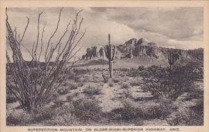 Superstition Mountain On Globe Miami Superior Highway Arizona