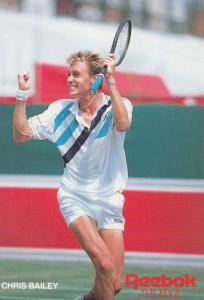 Chris Bailey Tennis Champion Rare Early Publicity Card Photo