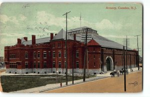 Camden, New Jersey - THE ARMORY - 1909 Postcard