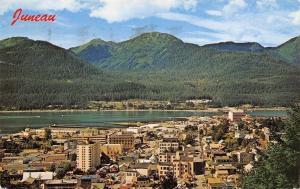 Juneau Alaska~Birds Eye City Panorama~1971 Postcard