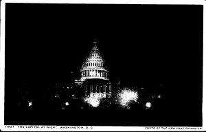 Washington D C The Capitol At Night Detroit Publishing