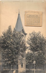 G33/ Mt Healthy Ohio Postcard c1910 Kraemer Art German Methodist Church