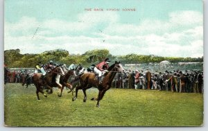 Surrey England UK~Epsom Downs~Horse Race~Crowd on Sidelines~1910 Star Series PC